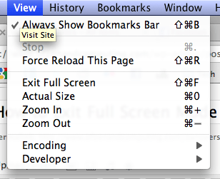 Exit fullscreen mode in Chrome for OS X