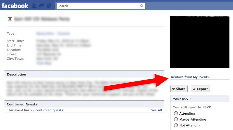 Screenshot of a Facebook event