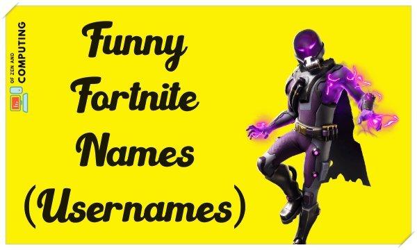 Funny Fortnite Names (Usernames) Not Taken 2020