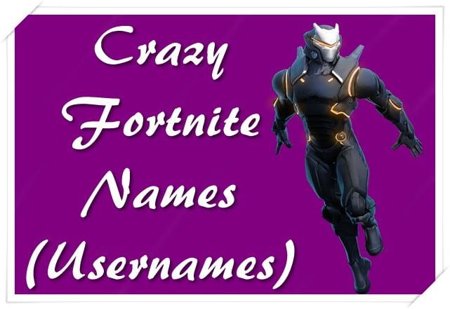 Crazy Fortnite Names (Usernames)