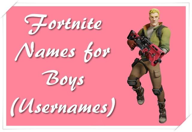 Fortnite Names for Boys (Usernames)