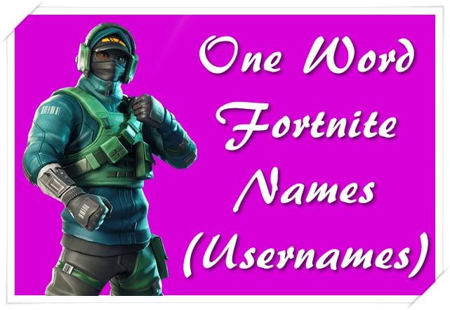 One Word Fortnite Names (Usernames)