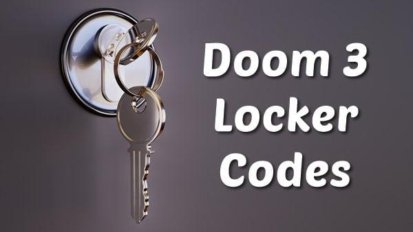 Doom 3 Locker Codes (2020) Storage BFG
