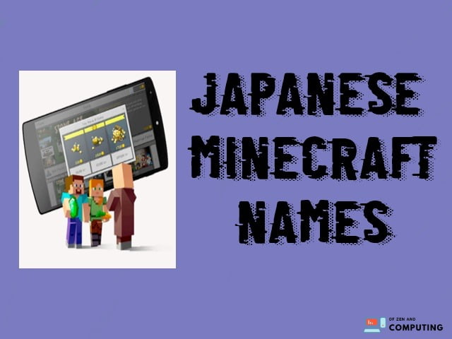 Japanese-minecraft-names