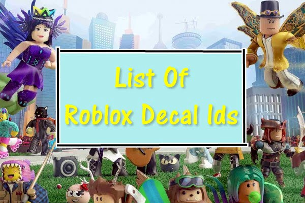 All Roblox Decal IDs List (2020)
