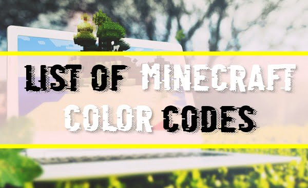 List of All Minecraft Color Codes (2020)