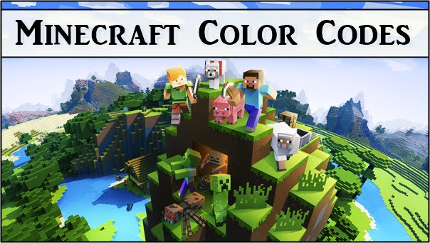 Minecraft Color Codes (2020) Chat, Sign, MOTD, Hex, Text
