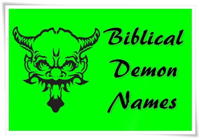 Biblical Demon Names