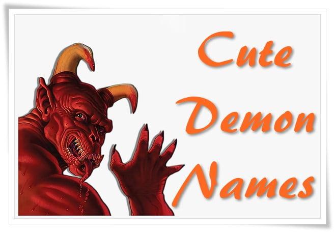 Cute Demon Names