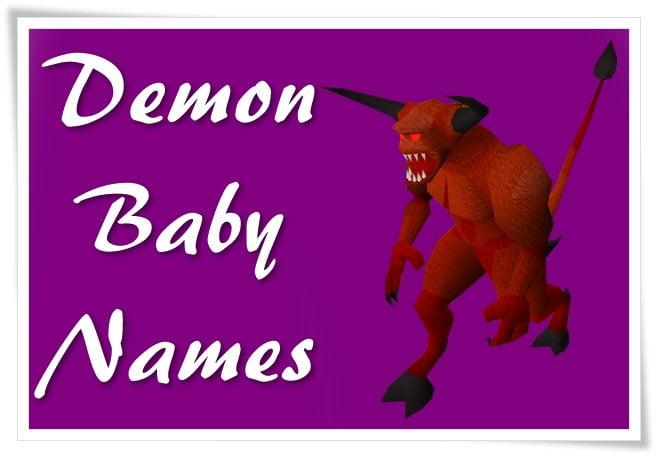 Demon Baby Names