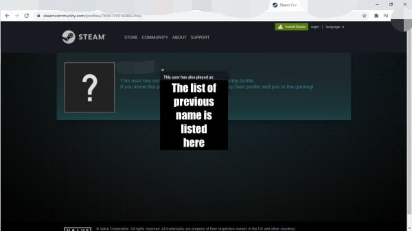 How to hide previous steam names?