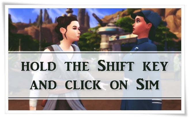 hold the shift key and then click on your Sims 4 character