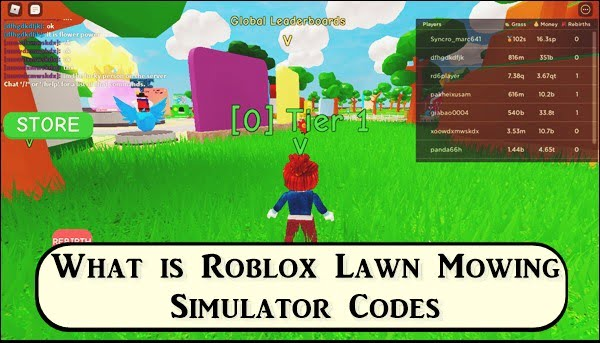 What is Roblox Lawn Mowing Simulator Codes?