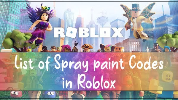 List of Spray paint Codes in Roblox 2021
