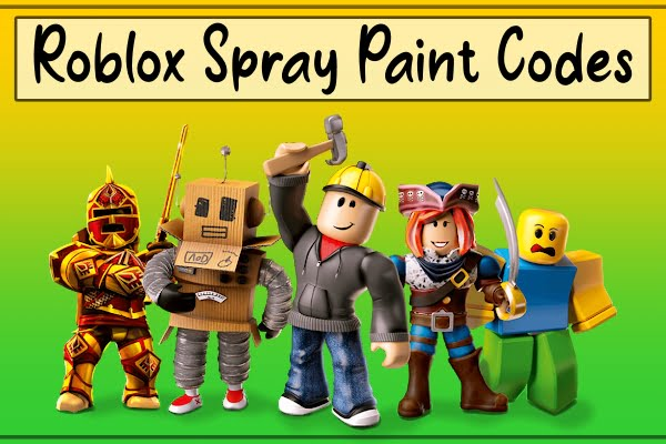 Roblox Spray Paint Codes List (2021)