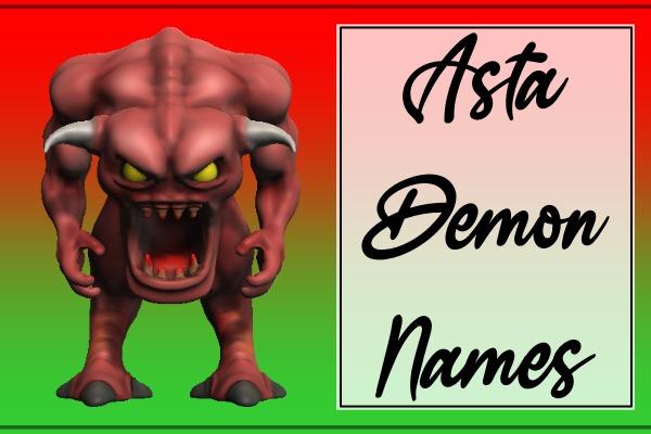 Asta Demon Names