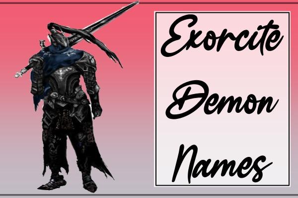 Exorcite Demon Names