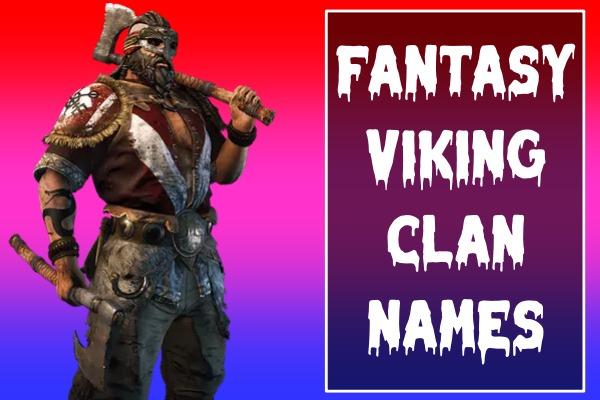 Fantasy Viking Clan Names (2021)