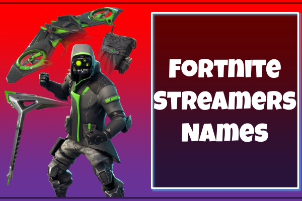 Fortnite Streamers Names 2021 (Usernames):