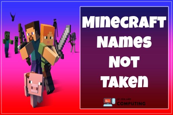 New Minecraft Names Not Taken (2021)