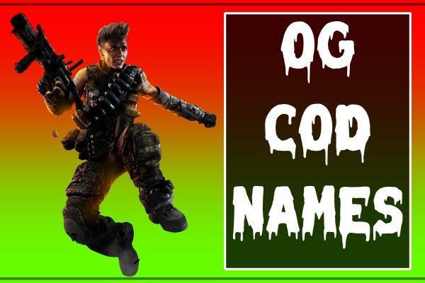 OG COD Names (2021)