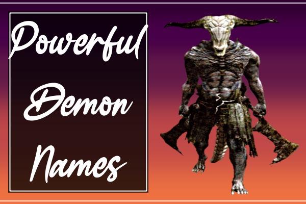 Powerful Demon Names