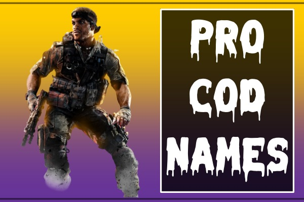Pro COD Names (2021)