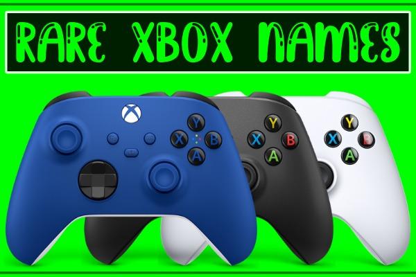 Rare Xbox Names / Gamertags (Unused)