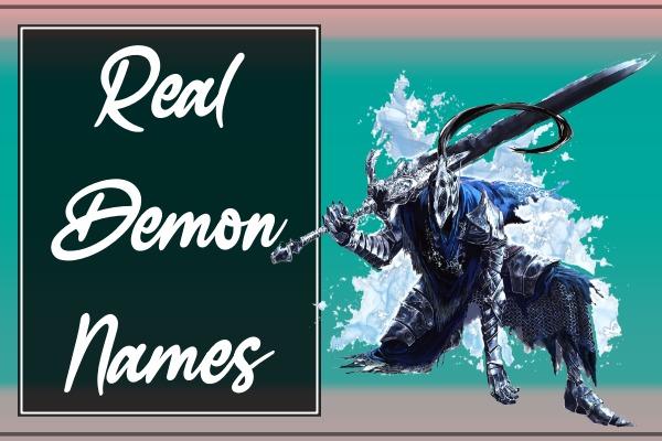 Real Demon names