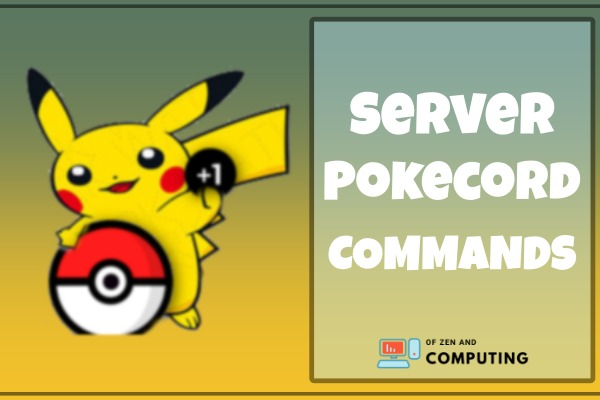 server pokecord commands