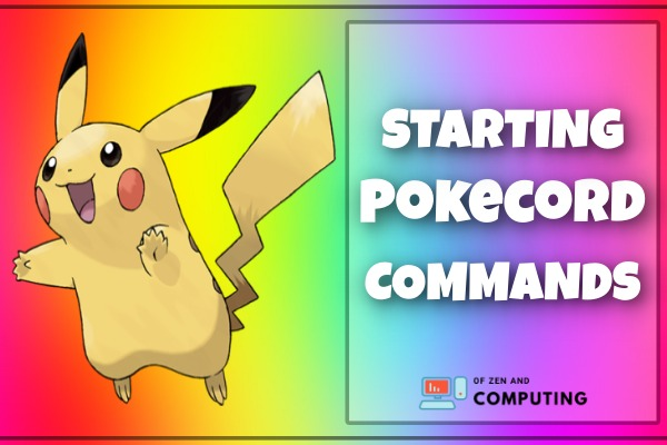 Starting Pokecord Commands