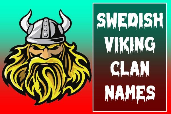 Swedish Viking Clan Names (2021)