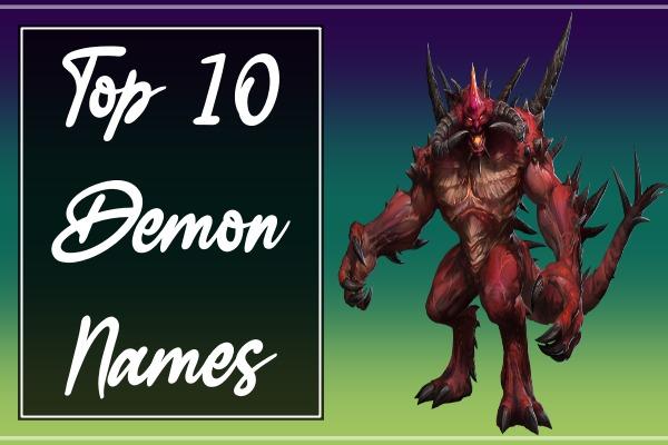 Top 10 Demon Names