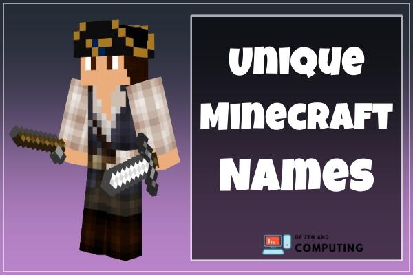 Unique Minecraft Names (2021)