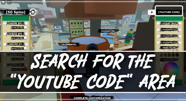 search for the Youtube Code area